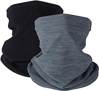 Sponsored Ad – Winter Neck Warmer Fleece Windproof Neck Gaiter Snood for Men Women Cold Weather Face Scarf Headwear for Sk...