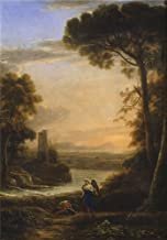 Oil Painting 'Lorraine Claude The Archangel Raphael And Tobias 1639 40 ' Printing On High Quality Polyster Canvas , 10 X 14 Inch / 25 X 36 Cm ,the Best Powder Room Artwork And Home Decor And Gifts Is This Cheap But High Quality Art Decorative Art Decorative Canvas Prints