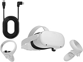 Oculus Quest 2 — 64GB Video — White Advanced All-In-One Virtual Reality Headset — 3D Cinematic Sound — Family Christmas Ho...