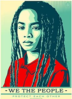 Burning Desire Poster Graffiti Shepard FAIREY we The People Protect eachother 2017 12x18 inches