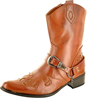 Bottes de cowboy à fermeture éclair pour homme