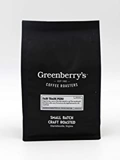 Sponsored Ad - Greenberry's Coffee Co. - Fair Trade Peru Whole Bean - Bold, Fresh, 100% Arabica, Medium Roast Beans, 12 oz