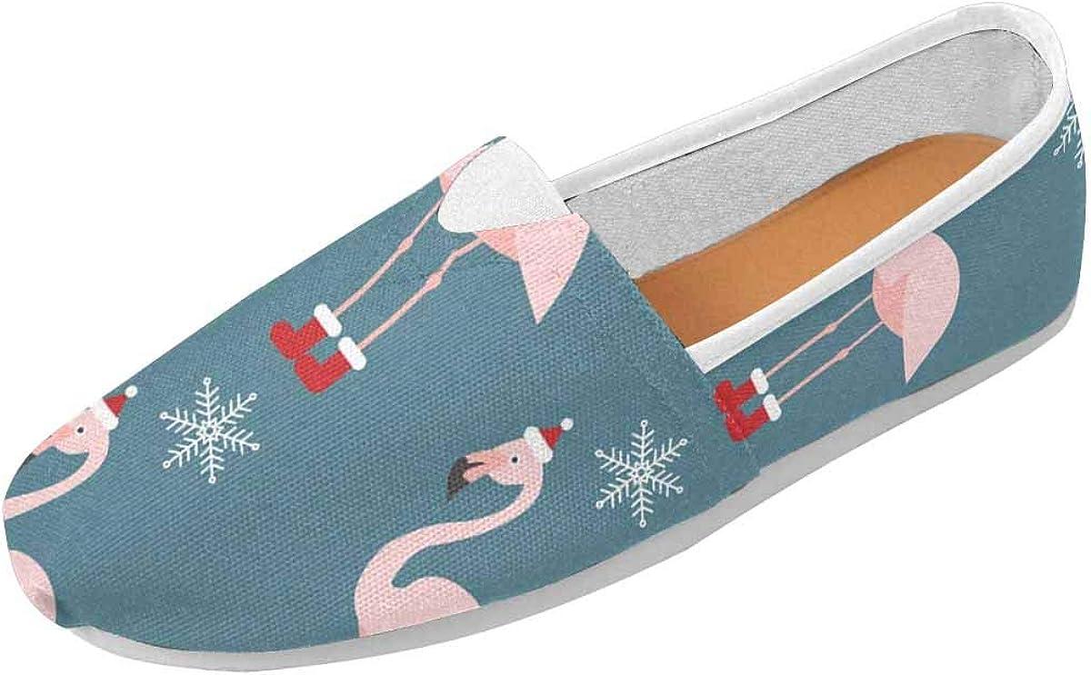 INTERESTPRINT Christmas Flamingo Women's Comfort Slip-on Loafers
