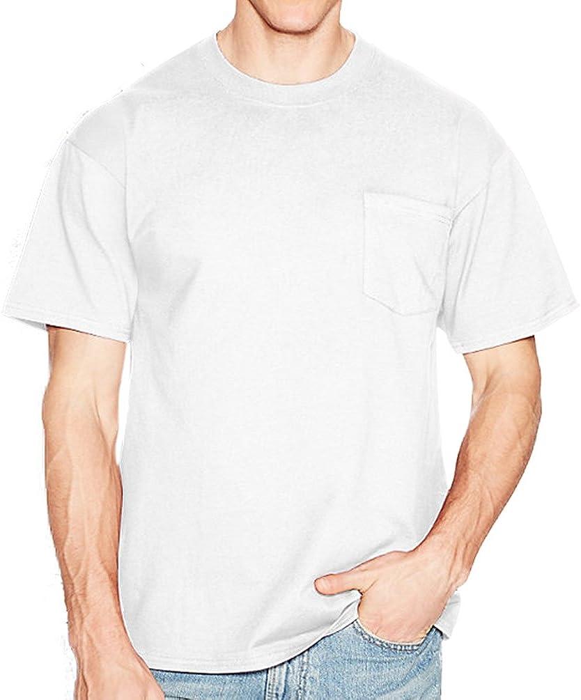 Hanes Men's Short Sleeve Pocket T-Shirt