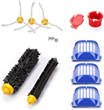 Dolloress Bristle Brushes/Side Brushes/Filters/Cleaning Tools Replacement Kit Compatible with Irobot Roomba 600 610 620 65...