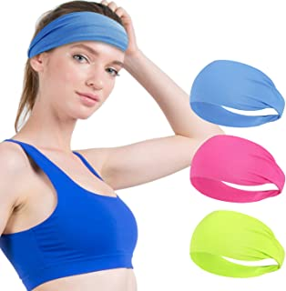 VEGOLS Non Slip Headband, Men Women Sports Headband Sweatband, Breatheable Elastic Moisture Wicking Athletic Headband for ...