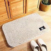 Household Bathroom Mat Plush Pad Water Absorption Rug Environmental Protection Bath Mat Washable Soft mat (Color : White, ...