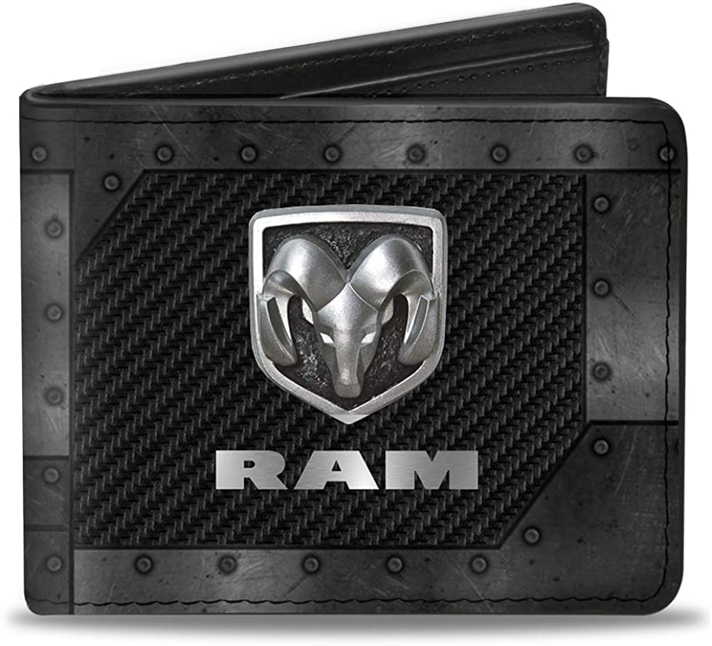 Buckle-Down mens Buckle-down Pu Bifold - Logo Armor Black Sales of SALE items from new works Gr Manufacturer OFFicial shop Ram