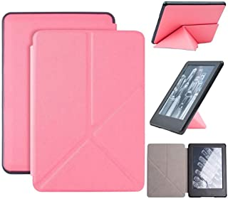Capa Kindle 10ª geração com iluminação embutida – Auto Hibernação – Fecho Magnético – Origami - Rosa Claro
