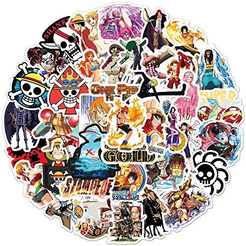 XINSHENG One Piece bauble 50PCS Anime One Piece Graffiti Stickers DIY Car Motorcycle Travel Luggage Skateboard Cartoon Waterproof Decals Toy Sticker