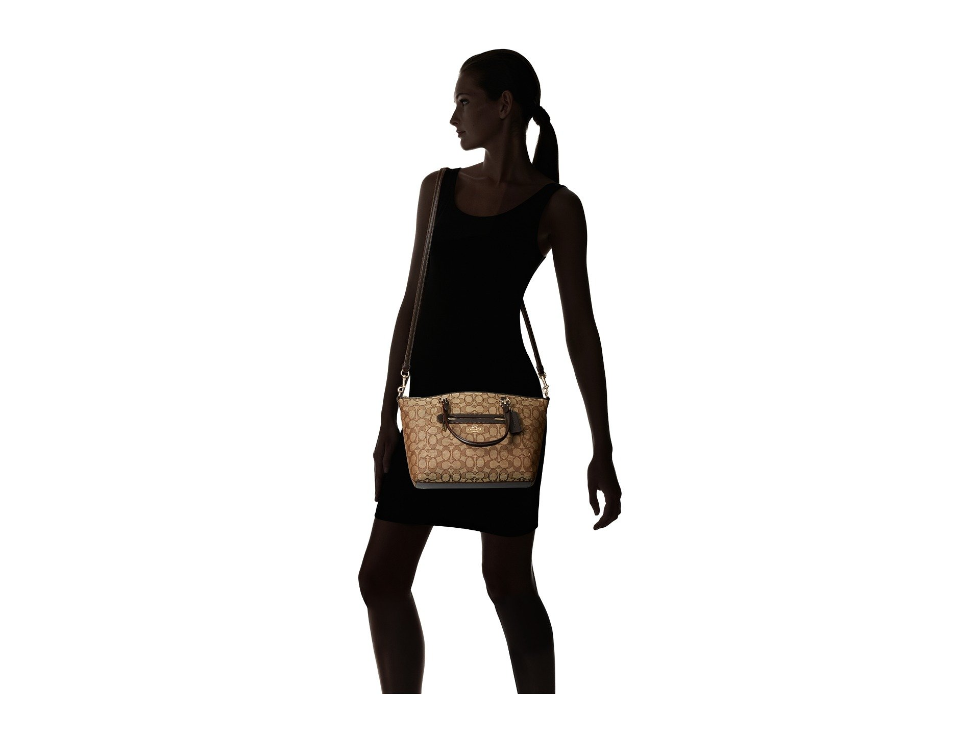 Signature Coach Prairie Li brown Satchel khaki BqTSwpq