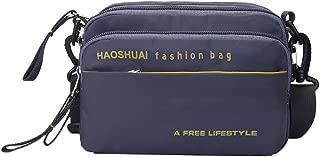 Genda 2Archer Men's Nylon Small Travel Crossbody Pouch Sport Casual Shoulder Bag One size Gray