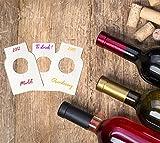 Home Optimal Lot de 100 étiquettes Vierges pour goulot de Bouteille de vin - Adapté à Tous Les Types de goulots