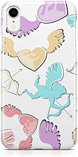 Loud Universe Case for iPhone XR Wrap Around Edges Valentines Day Couples Love Angels Pattern Sleek Design Heavy Duty Rugg...