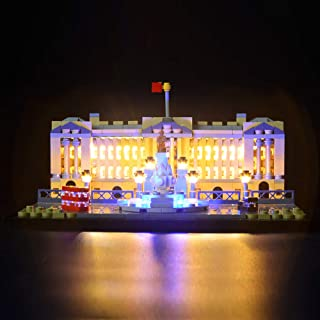 Briksmax Buckingham Palace Led Lighting Kit- Compatible with Lego 21029 Building Blocks Model- Not Include The Lego Set