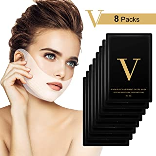 Máscara V Line HailiCare 8 Pcs Mascarilla Reafirmante Facial 4D Cara Doble Con Forma V Oreja Colgada Pasta Hidrogel Másc...