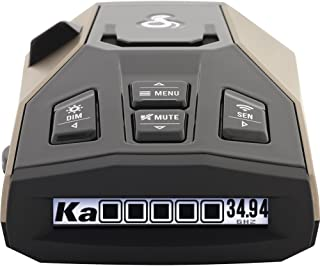 Cobra RAD 450 Laser Radar Detector: Long Range, False Alert Filter, Voice Alert & OLED Display, Black, RAD450