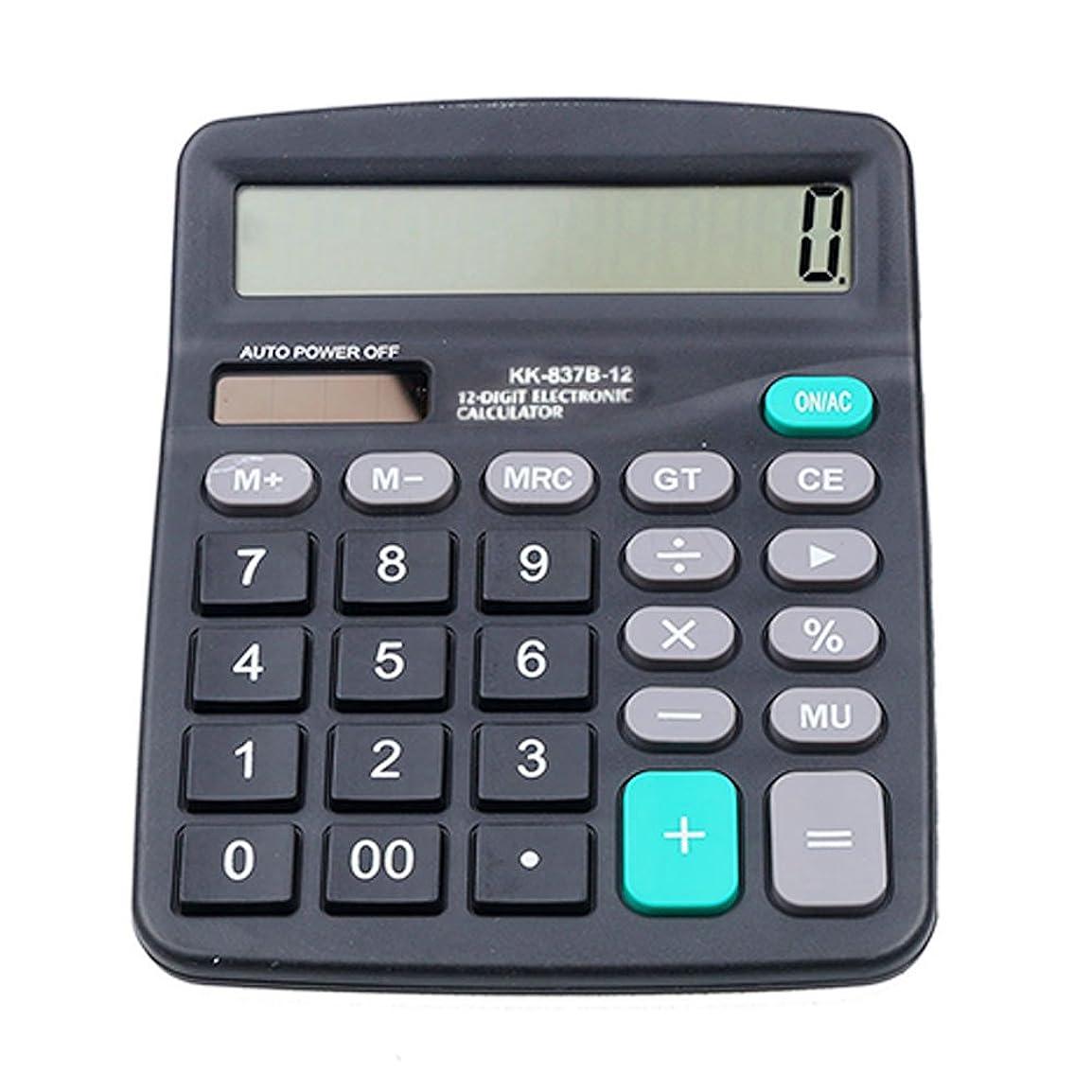 不格好印象的な口実オフィスデスクトップ電卓ソーラーと電子計算機ポータブルバッテリ電源12桁電卓、大型LCD表示147?x 118?mm