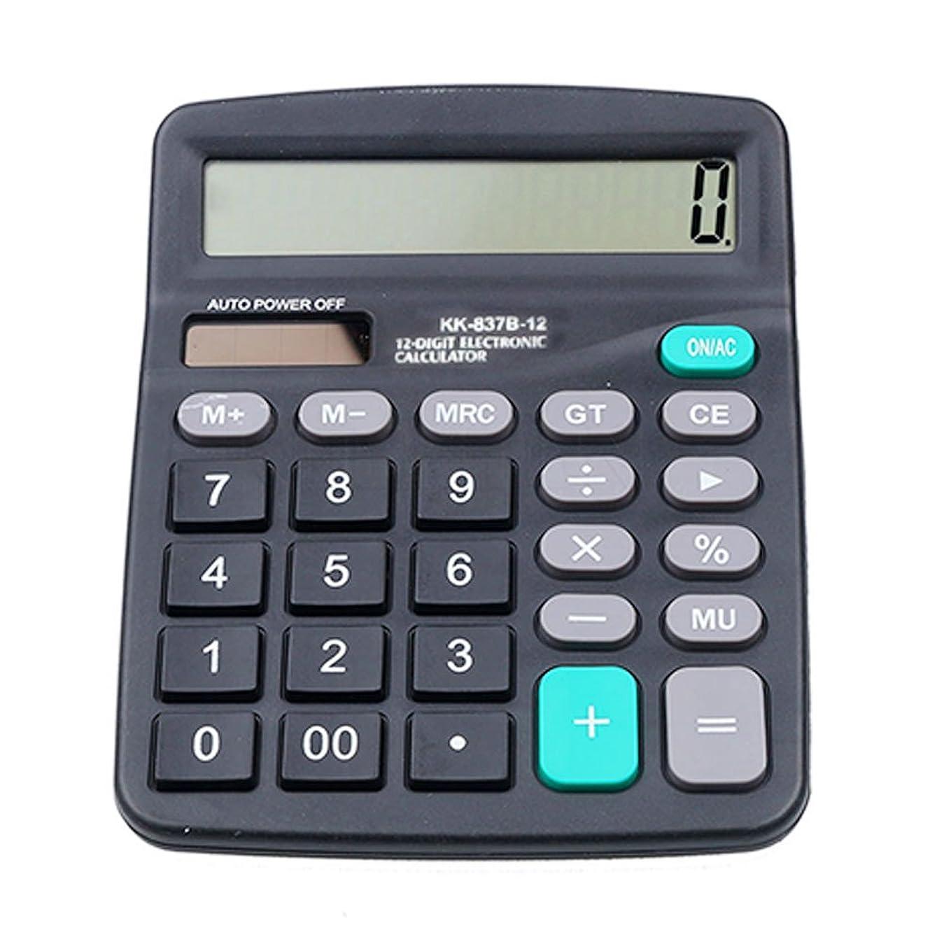 素敵な引退する相対性理論オフィスデスクトップ電卓ソーラーと電子計算機ポータブルバッテリ電源12桁電卓、大型LCD表示147?x 118?mm