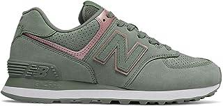 e5bc99f7d7 Nueva Balance WL574 NBN Gris Rosa Zapatos Mujer Cordones de Las Zapatillas  de Deporte