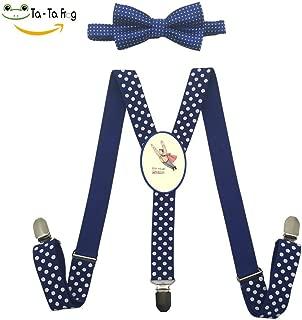 Flying Superhero Suspender&Bow Tie Set Adjustable Clip-On Y-Suspender Kids