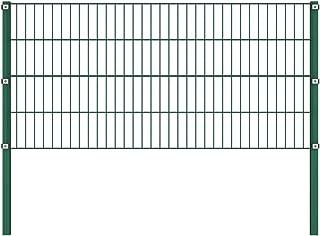 UnfadeMemory Valla Jardin Metalica con Postes,Panel de Valla para Jardin,Decoracion Jardin,Hierro Verde (1,7x0,8m)