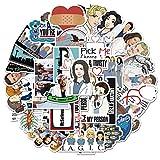 Xindian Grey's Anatomy - Juego de 50 pegatinas creativas para televisión, diseño de dibujos animados divertidos y decorativos para equipaje, ordenador portátil, teléfono, ventana, snowboard