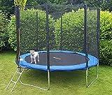 Trampoline de jardin Jumper, certifié TÜV & GS, avec filet de sécurité, tapis de saut, échelle et housse de protection, 305 cm de diamètre