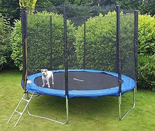 Trampolino da giardino Jumper, certificato TÜV & GS, rete di sicurezza, tappeto elastico, scaletta e copertura del bordo, diametro 305 cm