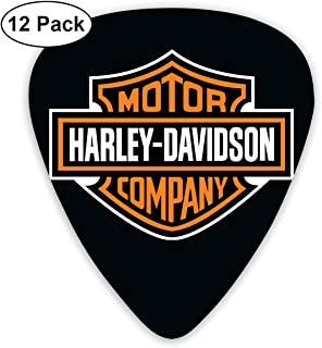 Grace Little Harley Davidson Logo Stylish Celluloid Guitar Picks Plectrums for Guitar Bass 12 Pack
