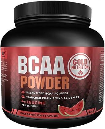 Goldnutrition BCAAs Polvo 300g, Sandía, Ganar Masa Muscular ...