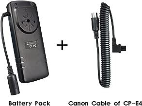 eFonto JJC External Flash Battery Pack for Canon 600EX II-RT 600EX-RT 580EX II 580EX 550EX 540EZ 430EZ MR-14EX MT-24EX YONGNUO YN-560II YN600EX-RT YN560IV Speedlite Flash  BP-CA1 Replaces Canon CP-E4