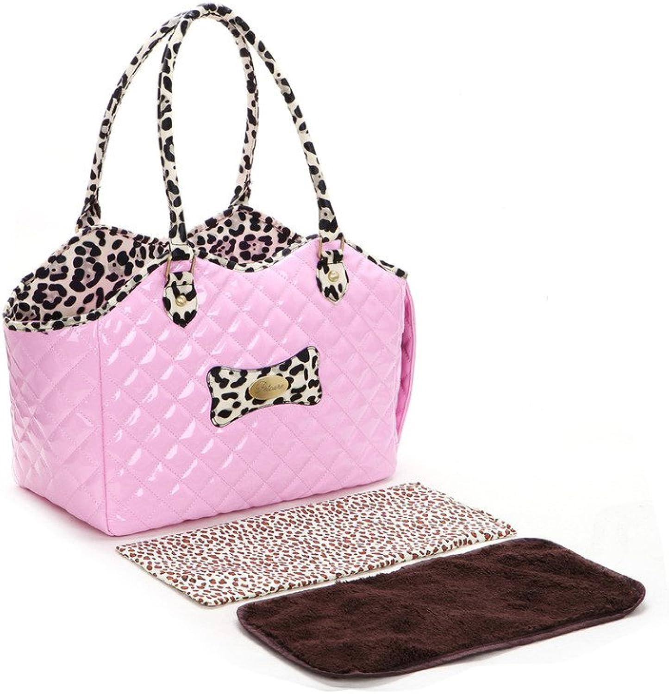 Pineocus Ladies Oblique Pet Dogs Cat Carrier Bag Pink