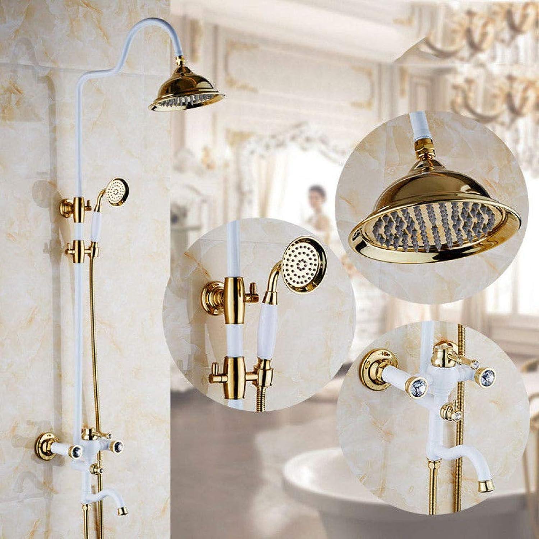 GZF Shower tap bathtub mixer bath waterfall faucet bathtub taps wall mounted Shower System
