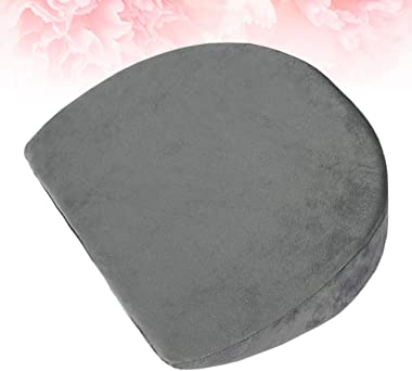 EXCEART Maternity Pillow Wedge Pregnancy Waist Support Cushion Sleeping Pillow for Support Belly Back Knees Grey