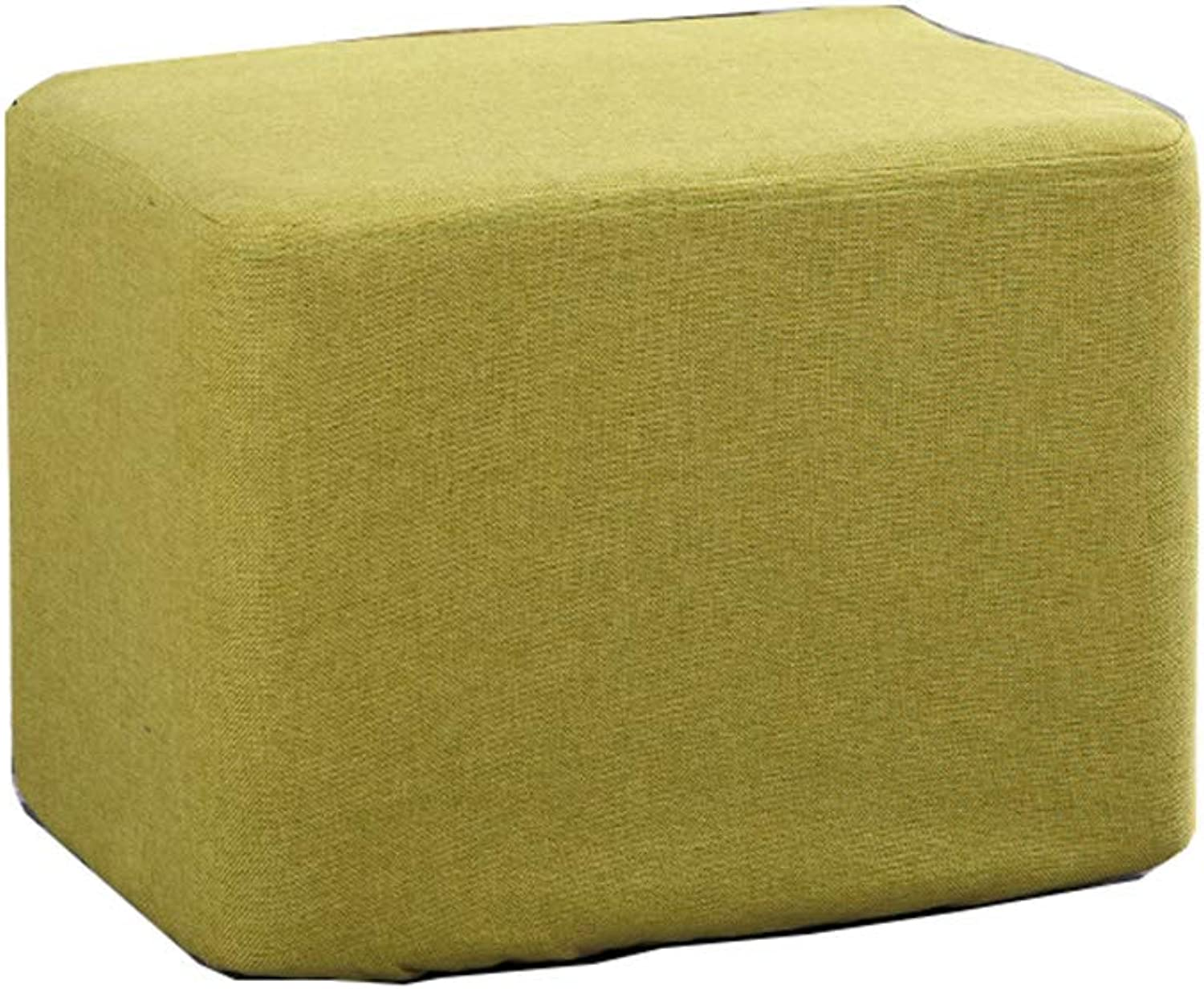 Solid Wood Sofa Bench Change shoes Bench Bedroom Cloth Bed End Stool Osman Fashion Makeup Stool Stool (Green) (Size    1)