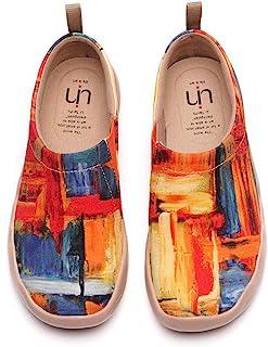 Women's Flats Canvas Lightweight Slip Ons Sneakers Walking Casual Art Painted Travel Shoes Secret...