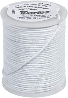 Paracord Planet Cloth Covered Wire – 30 Gauge, 10 Yards – for Jewelry, Floral, and Sculpture Uses (White)