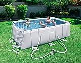 Piscina 412 x 201 x 122 y motor de agua; playa, jardín, verano, BES102