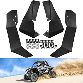 KIWI MASTER Fender Flares Extensions Compatible for 2015-2019 Polaris RZR-S 900 & 2016-19 RZR-S 1000, 2015-2016 RZR S 4 900 Extended Mud Flaps Guards