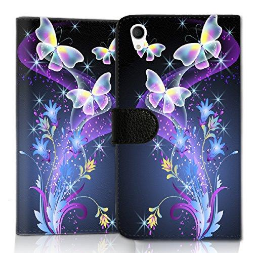 wicostar Wallet Book Style Flip Handy Tasche Hülle Schutz Hülle Schale Motiv Etui für ZTE Blade L3 - Flip UMH14 Design4