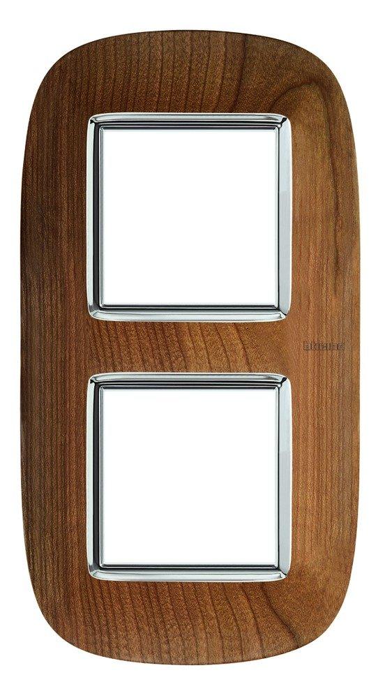 Bticino axolute Placa 2+2+2 m/ódulo axolute madera cerezo