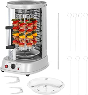 Royal Catering Rôtissoire Verticale Machine À Kébab Poulet Électrique Appareil Mini Machine Grill Rotatif RCGV-1400 (3-en-...