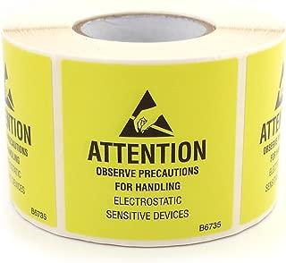Botron B6734 Self Adhesive ESD Awareness JEDC Label Roll 2'' x 0.625''