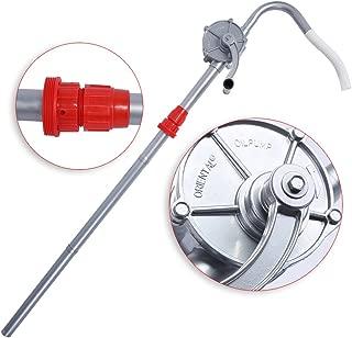 Estink Rotary Barrel Pump, 70RPM Aluminum Alloy Hand Crank Oil Barrel Drum Pump Pumping Petrol Diesel Fuel for Petroleum Products