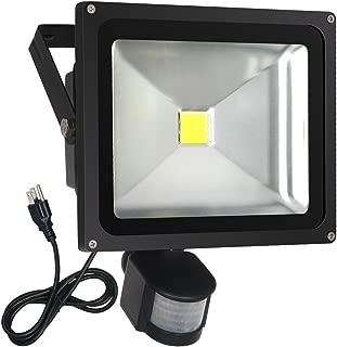 FAISHILAN Motion Sensor Flood Light 30W LED IP65 Waterproof Security Lights 6000K, 2400 Lumen, US 3-Plug Outdoor Wall Light