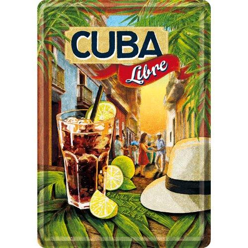 Nostalgic-Art 10260 Open Bar - Cuba Libre, Blechpostkarte 10x14 cm