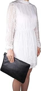 Oversized Clutch Bag Purse, Womens Large leather Evening Wristlet Handbag