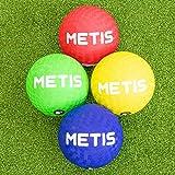 METIS Ballons de Jeu Enfant | Ballon Souple et Léger | Idéals pour la Balle au Prisonnier | Plusieurs Couleurs | Vendus en Packs de 4, 8 ou 12 (Grand (22 cm), Pack de 4)