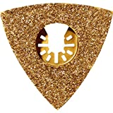 Rockwell RW8923 Sonicrafter Oscillating Multitool Triangular Carbide Grit Rasp Blade with Universal Fit System Gold